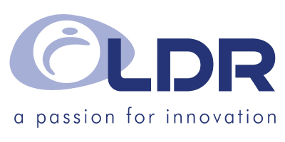 LDR is a client of iData Research's physician survey services, features their blue logo on a white background