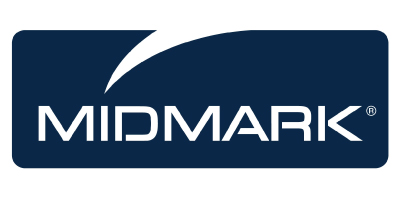 Midmark utilizes iData Research's medical market survey expertise to gather insights from the end users that matter to their medical devices, features the Midmark navy blue logo on a white background