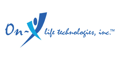 On-X Life Technologies is an iData Research client of custom physician surveys to discover insights about the end-users of their medical devices, features their blue logo on a white background