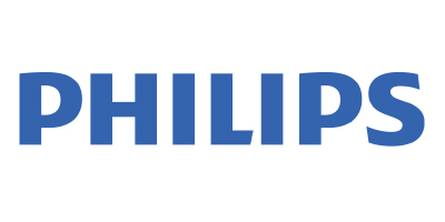 Philips is an iData Research partner that purchases custom physician surveys to discover insights about the end-users of their dental treatment devices, features their blue logo on a white background