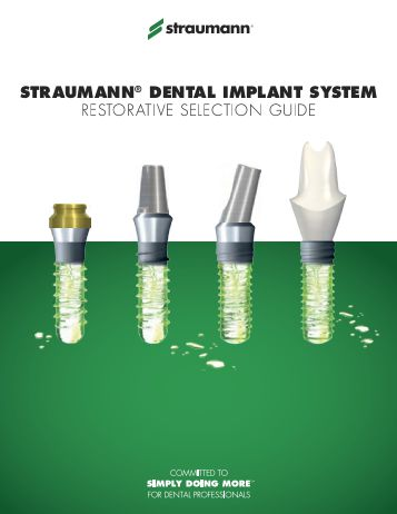 Straumann Leads Europe Final Abutment Dental Market Despite