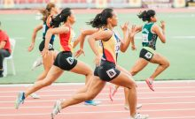 Women Running On Track Field iData