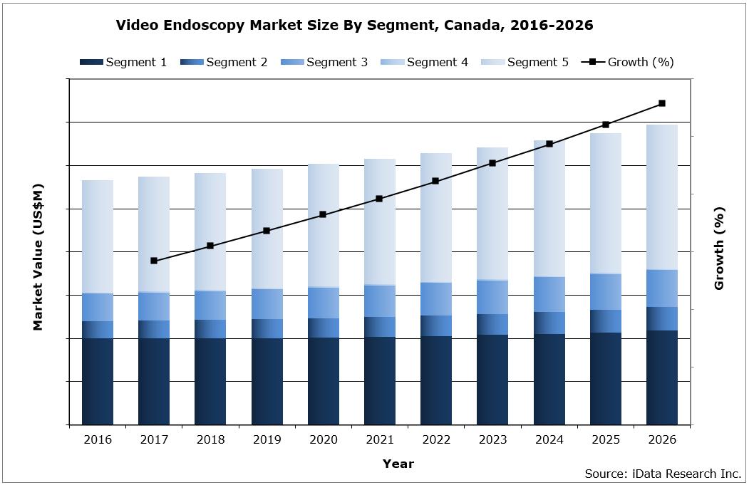Canada Video Endoscopy Market Size by Segment, 2016-2026